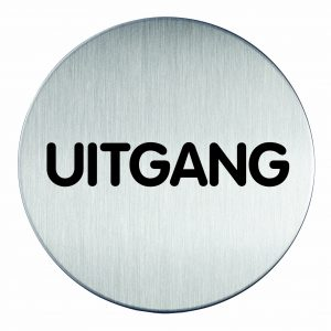 RVS Pictogram Ø 83mm uitgang