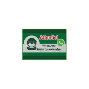 Aluminium RVS attentie whatsapp