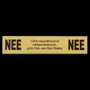 Messing NEE | NEE bordje