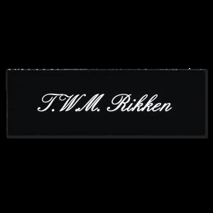 Kunststof naamplaatje zwart 15x5cm zelfklevend