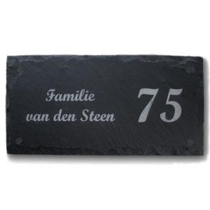 Leisteen naambord 30x15cm