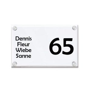 Plexiglas naambord helder 20x15cm