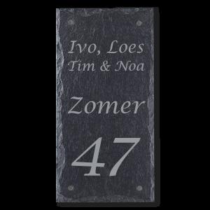 Leisteen naambord staand 15x30 cm