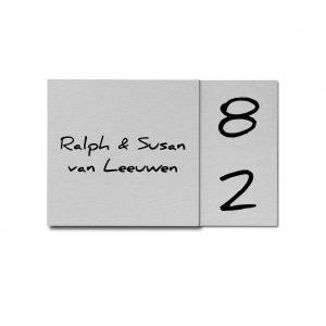 RVS facet naambord 12x19cm