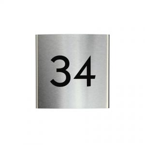 RVS gebogen naambord 15x15cm