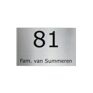 RVS gebogen naambord 19x12cm