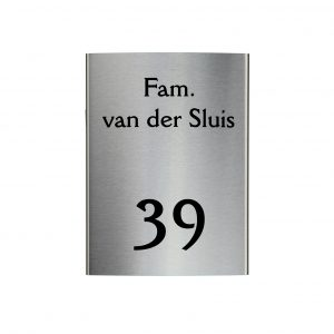 RVS gebogen naambord 15x20cm