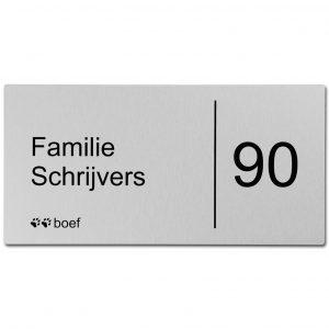 RVS naambord 30x15cm blind