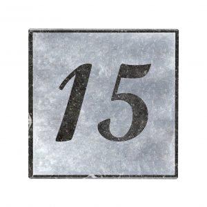 Blauwsteen naambord 15x15cm