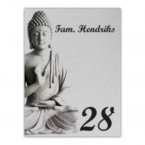 Aluminium rvs look 15x20cm Boeddha