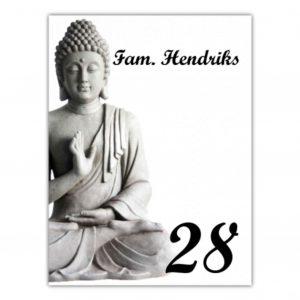 Aluminium naambord wit 15x20cm Boeddha