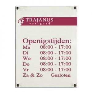Plexiglas Bedrijfsbord A4 29,7x21cm