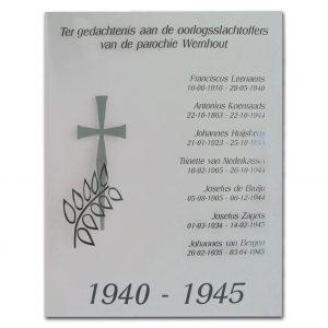Plexiglas gedenkplaat 29,7x42cm A3 formaat