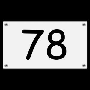 Kunststof huisnummerbord 9x16cm Wit Schroeven