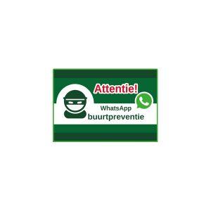 Aluminium wit attentie whatsapp buurtpreventie
