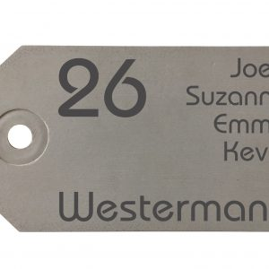 Modern Naambord Beton Label 35x20cm