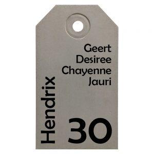 Naambord Beton Label