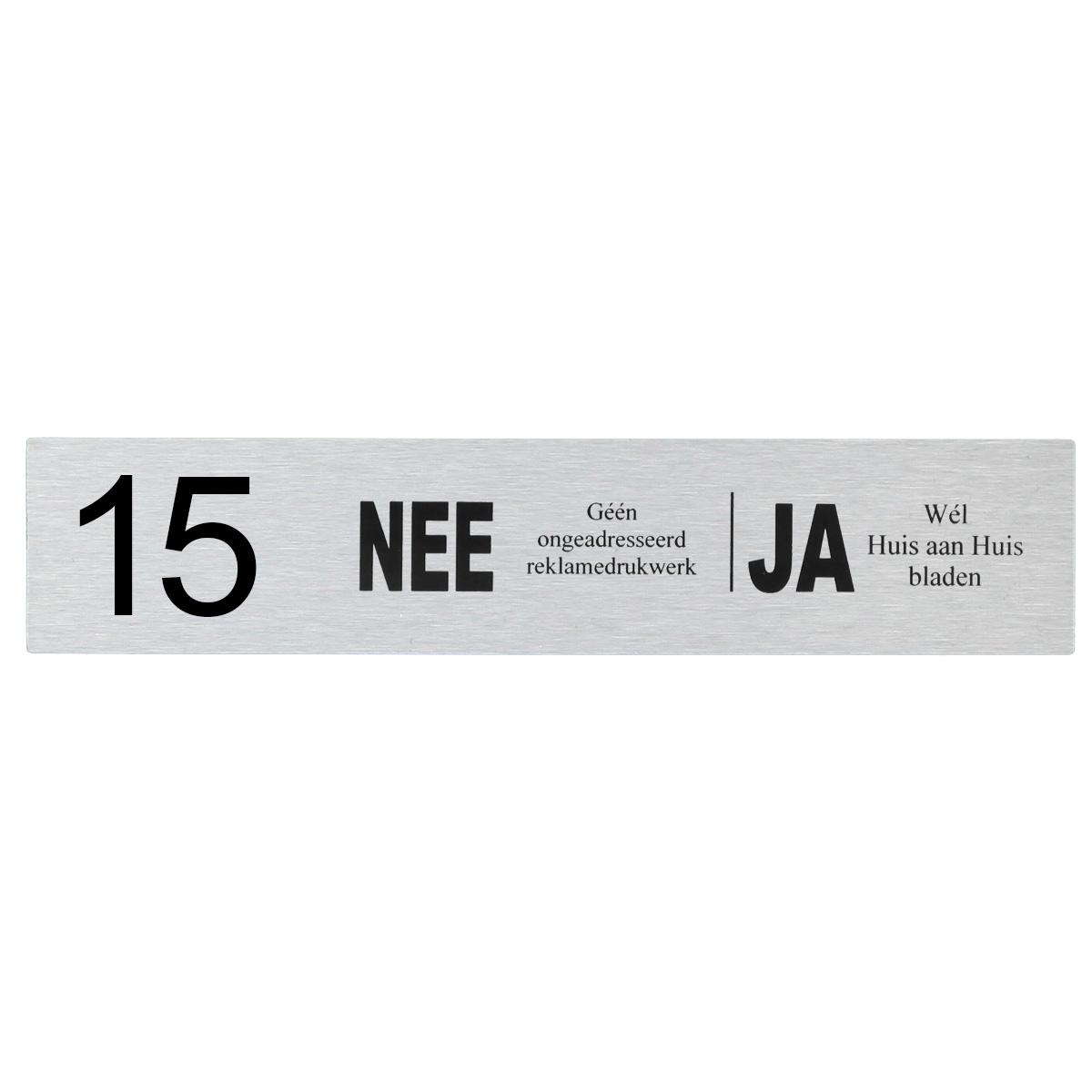 Brievenbusplaatje NEE | JA 14,5x3cm
