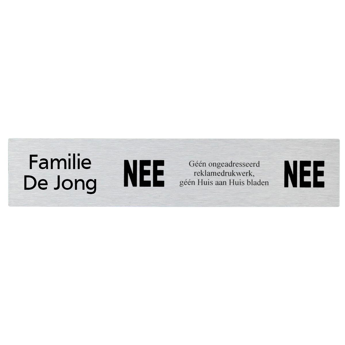 Brievenbusbordje NEE | NEE 14,5 x 3 cm