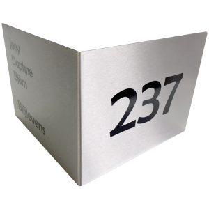 RVS Hoekbord 19,5x15cm